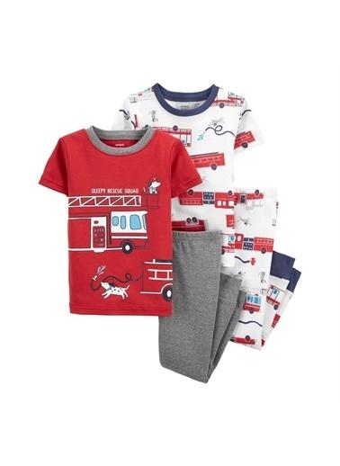 Carters Carter'S İtfaiye 4'Lü Bebek Pijama Takımı 1K479712 Kırmızı